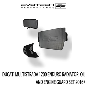 두카티 멀티스트라다1200 ENDURO RADIATOR, OIL AND ENGINE GUARD SET 2016+ 에보텍