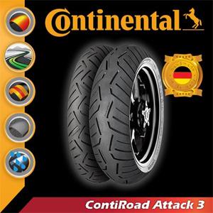 [콘티넨탈 오토바이 타이어]콘티로드어택3/ContiRoad ATTACK3 160/60 ZR 18 M/C (70 W) TL 02 44 064
