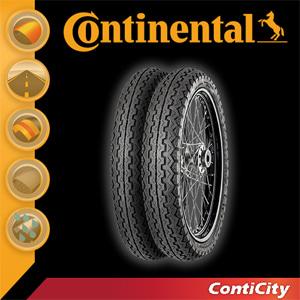 [콘티넨탈 오토바이 타이어]콘티시티/ContiCity 90/90 - 18 M/C 57 P Reinf. TL 02 40 318