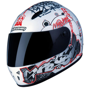 Marushin 222 Graffiti White/Red