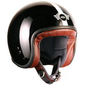 Cafe Racer Jet Helmet Black/White