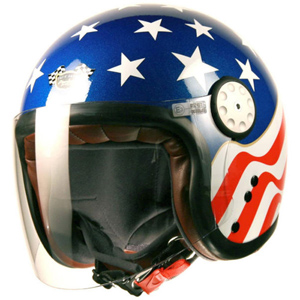 Project Cafe Racer Long Visor Jet Helmet USA