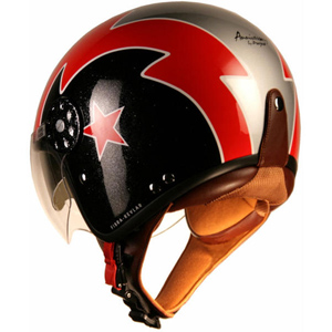 Project Gordon Double Visor Black/Red/Silver