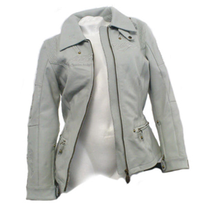 [Ed Hardy 가죽자켓]Ed Hardy Eternal Love Rose Jacket White