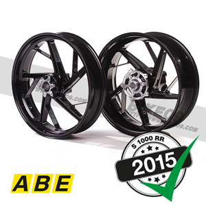 "[S1000RR] black 17"" Racing wheel set aluminium"