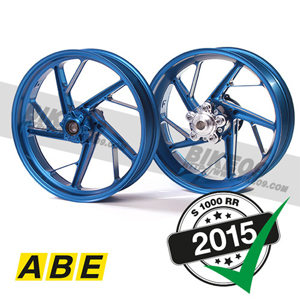 "[S1000RR] Racing wheel set aluminium blue 17"" with ABE"