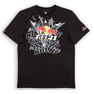 키니 티셔츠 Kini Red Bull Fade T-Shirt (Black)