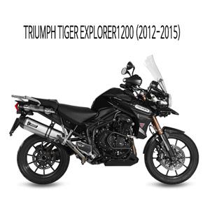 미브 타이거 익스플로러1200 (2012-2015) 스피드엣지 스틸 슬립온 머플러 트라이엄프