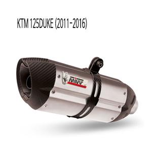 미브 125듀크 수오노 머플러 KTM 스틸 풀시스템 (11-16)