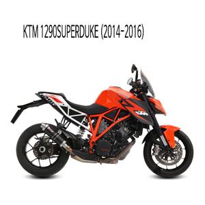 미브 1290슈퍼듀크 GP 블랙 스틸 (14-16) 슬립온 머플러 KTM