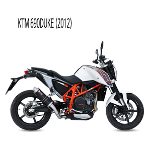 미브 690듀크 블랙 스틸 슬립온 머플러 KTM (2012) GP