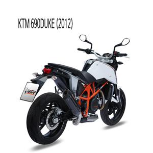 미브 690듀크 수오노 (2012) 블랙 스틸 슬립온 머플러 KTM