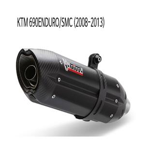 미브 690ENDURO/SMC (08-13) 수오노 블랙 스틸 슬립온 머플러 KTM