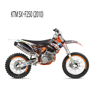 미브 SX-F250 FULL SYSTEM 머플러 KTM (2010) 오벌 스틸