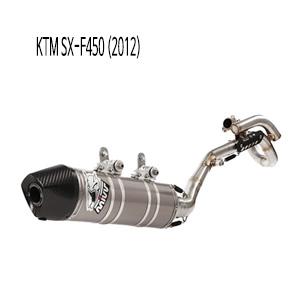 미브 SX-F450 FULL SYSTEM 머플러 오벌 스틸 KTM (2012)
