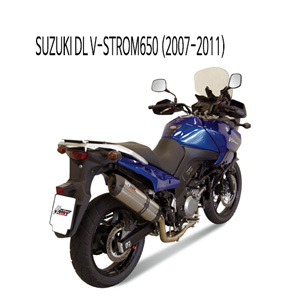 미브 DL 브이스톰650 2007-2011 머플러 스즈키 수오노 스틸 슬립온