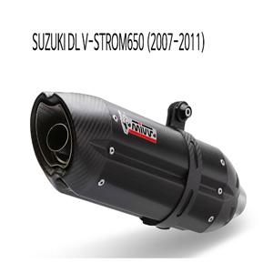 미브 DL 브이스톰650 블랙 슬립온 (2007-2011) 수오노 스틸 머플러 스즈키