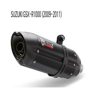 미브 2009-2011 수오노 BLACK 스틸 슬립온 머플러 스즈키 GSX-R1000