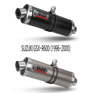 미브 1996-2000 GSX-R600 스즈키 머플러 오벌 슬립온 미브