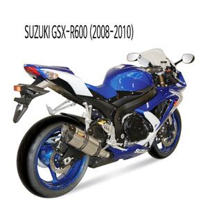 미브 2008-2010 스즈키 머플러 GSX-R600 수오노 스틸 슬립온