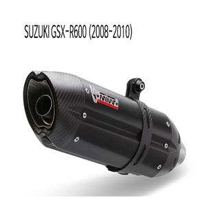 미브 (2008-2010) 수오노 BLACK GSX-R600 스틸 슬립온 머플러 스즈키