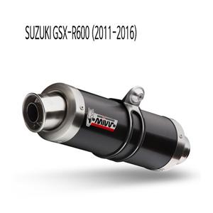 미브 2011-2016 GP 블랙 스틸 슬립온 GSX-R600 머플러 스즈키