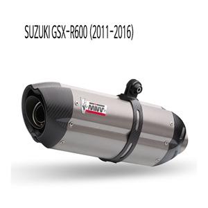 미브 11-16 GSX-R600 수오노 티탄 슬립온 머플러 스즈키