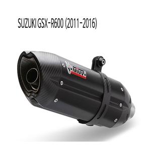 미브 (2011-2016) GSX-R600 수오노 BLACK 스틸 슬립온 머플러 스즈키