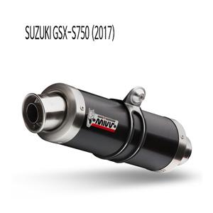 미브 GSX-S750 GP 블랙 스틸 슬립온 머플러 스즈키 (2017)