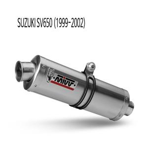 미브 SV650 (99-02) 오벌 스틸 슬립온 머플러 스즈키