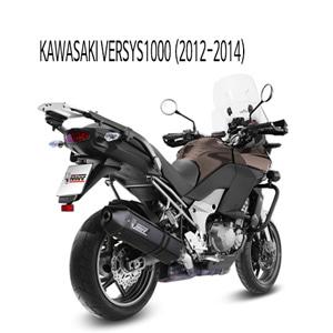 미브 버시스1000 (12-14) 스피드엣지 블랙 스틸 슬립온 머플러 가와사키