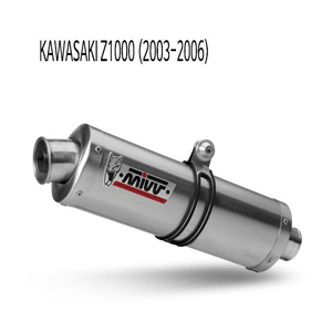 미브 Z1000 (03-06) OVAL STEEL 슬립온 가와사키 머플러