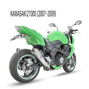 미브 Z1000 (07-09) GHIBLI 스틸 슬립온 가와사키 머플러