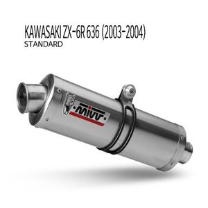 미브 ZX-6R 636 오벌 스틸(standard) 슬립온 가와사키 (03-04) 머플러