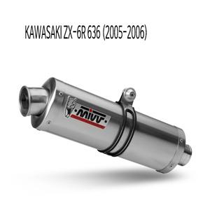 미브 ZX-6R 636 (05-06) 오벌 스틸 슬립온 가와사키 머플러