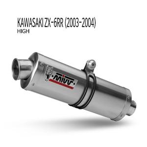 미브 ZX-6RR 오벌 스틸(high) 슬립온 (03-04) 머플러 가와사키