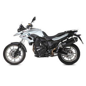 미브 머플러 BMW F700 GS (2012) SPEED EDGE BLACK-BLACK STAINLESS STEEL 슬립온