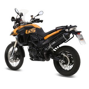 미브 머플러 BMW F800 GS (2008) SPEED EDGE BLACK-BLACK STAINLESS STEEL 슬립온
