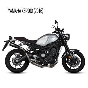 미브 XSR900 야마하 (2016) GHIBLI 블랙 TAINTED 스틸 풀시스템 머플러