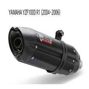 미브 YZF R1 (2004-2006) BLACK 수오노 스틸 슬립온 머플러 야마하