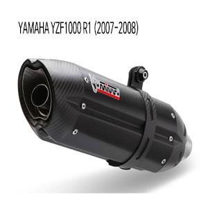 미브 YZF R1 (2007-2008) SLIP-ON 수오노 블랙 스틸 머플러 야마하