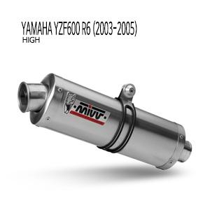 미브 YZF R6 2003-2005 오벌 스틸(standard) 슬립온 머플러 야마하