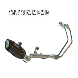 미브 YZF R25 풀시스템 수오노 블랙 스틸 야마하 (2015) 머플러