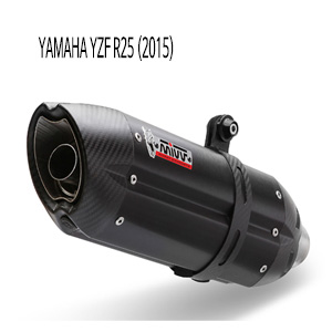 미브 YZF R25 슬립온 수오노 블랙 스틸 머플러 야마하 (2015)