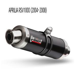 미브 RSV1000 아프릴리아 (2004-2008) GP 블랙 스틸 슬립온 머플러