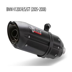 미브 K1200/R/S/GT 수오노 블랙 스틸 05-08 슬립온 머플러 BMW