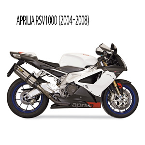 미브 RSV1000 수오노 슬립온 (2004-2008) 스틸 머플러 아프릴리아