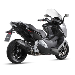 미브 머플러 BMW C600 스포츠 (2012-2015) SPEED EDGE BLACK-BLACK STAINLESS STEEL 슬립온