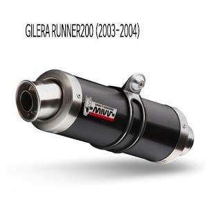 미브 러너200 GP 블랙 스틸 슬립온 (2003-2004) 머플러 질레라