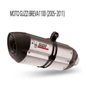 미브 브레바1100 수오노 스틸 슬립온 머플러 모토 구찌 (2005-2011)